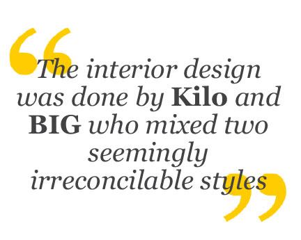Quote Kilo and BIG interior design at Llama Restaurant