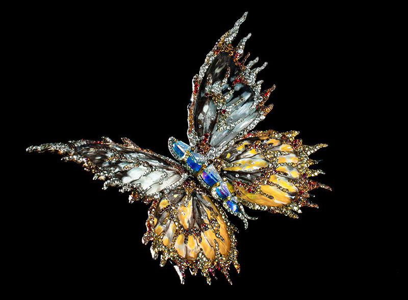 Forever Dancing Butterfly brooch_Wallace_Chan