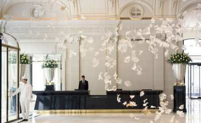 gold leaf of The Lobby restaurant