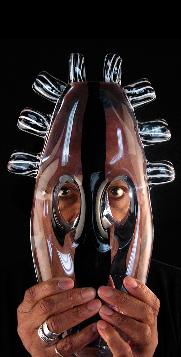 blown-glass-masks-Melvin-Anderson