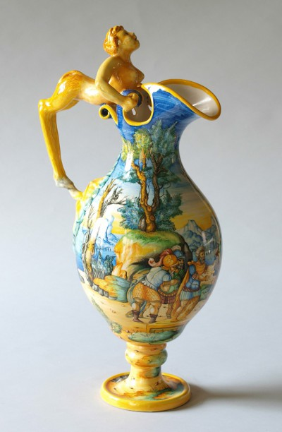 "Jug with handle in ""grotesque style"","