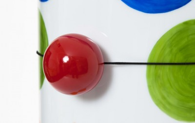 Pierre Charpin, Marbles & Clowns, Galerie kreo, Londra. Vaso Pepi, dettaglio naso.