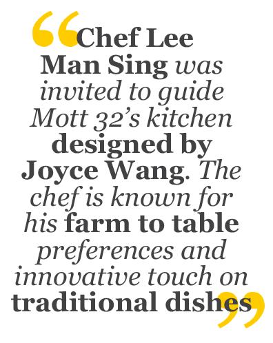 Mott 32 designer Joyce Wang and chef Lee Man Sing