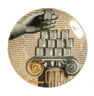 Fornasetti, piatto Calendario 2000