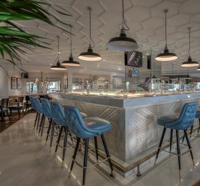 Gli interni del Geales Dubai sono stati progettati dallo studio multidisciplinare LW.