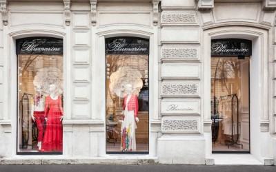 Bluemarine's storefront