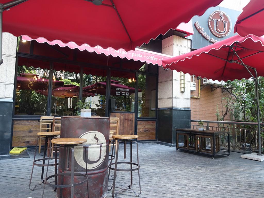 terrace of urban soup kitchen in shangai