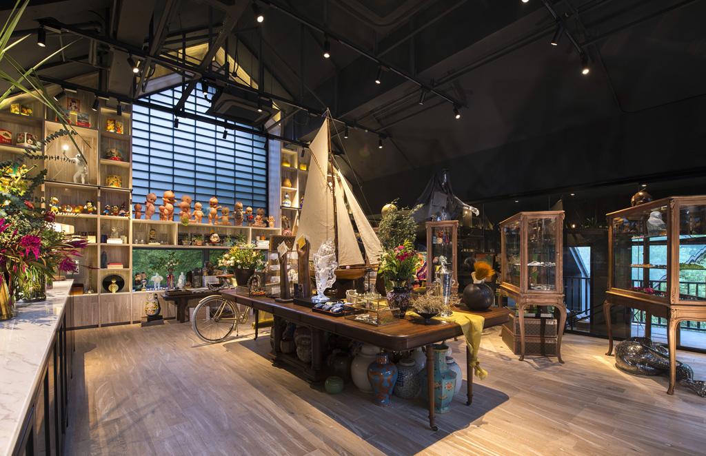 Interior of the concept store Garden 27 in Shangai