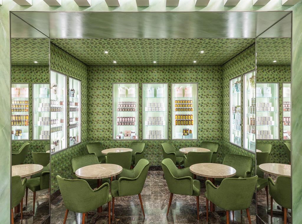 Inner lounge of Caffè Marchesi in Milan