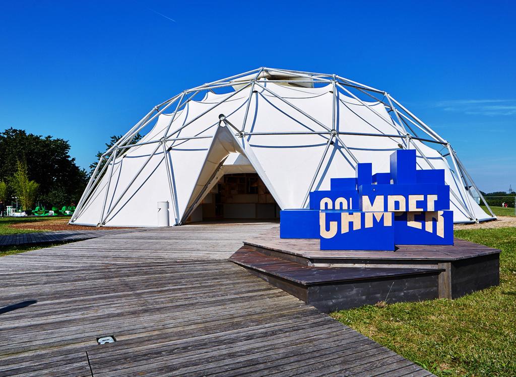 Lo scorso 18 giugno Vitra e Camper hanno presentato un progetto pop-up della durata di tre mesi presso la Cupola al Campus Vitra di Weil am Rhein