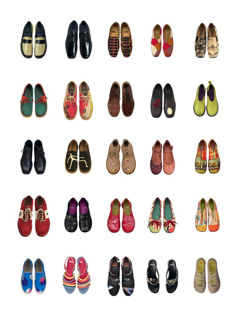 Presentazione complete delle scarpe dalla collezione Twins Camperp