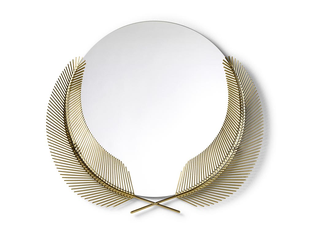 mirror in polished brass