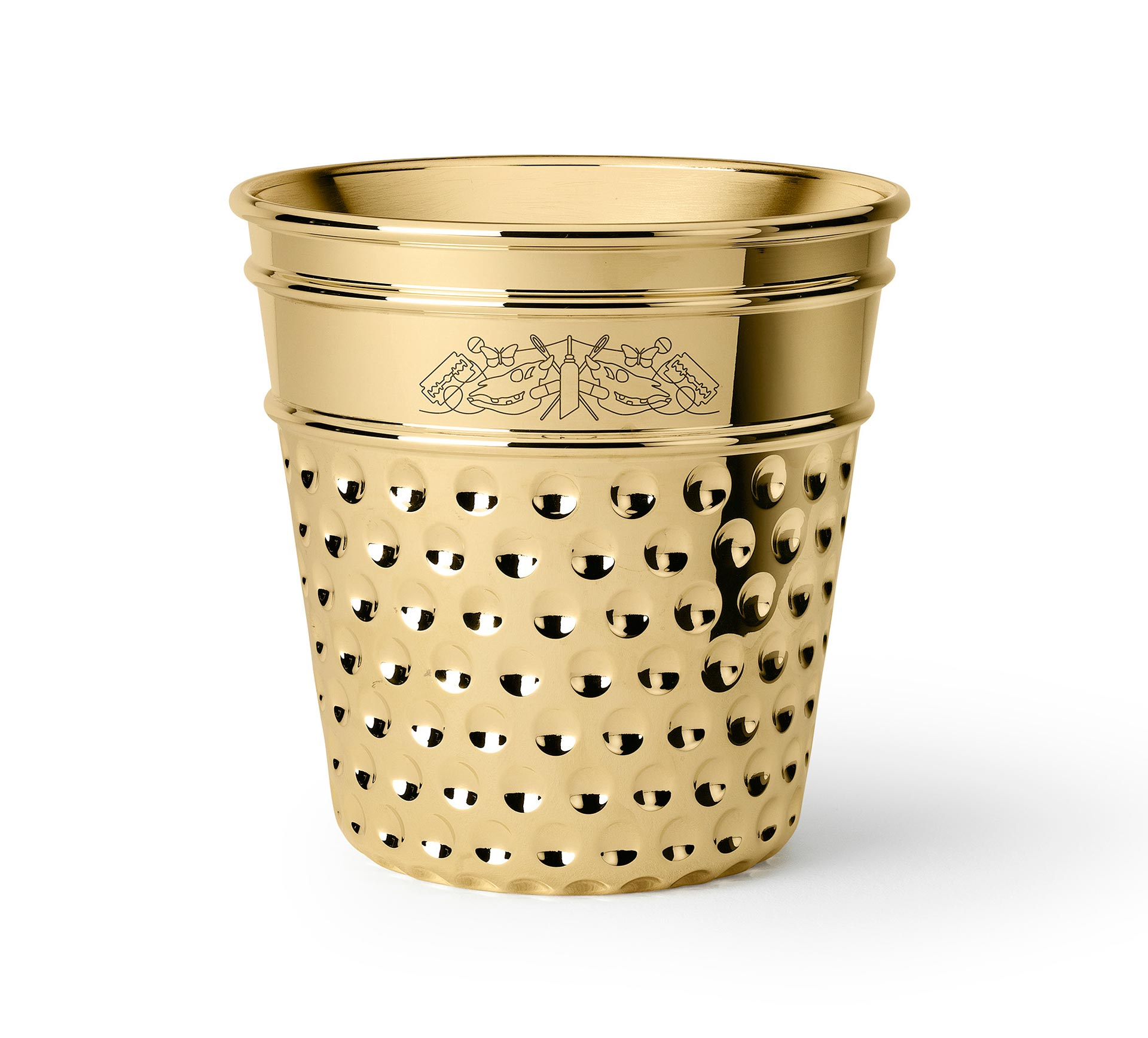 ice bucket in polished brass