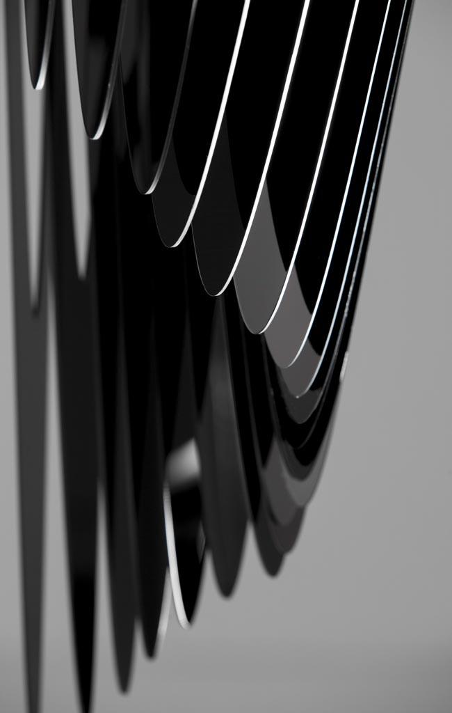 Detail of Avia chandelier, design by Zaha Hadid for Slamp
